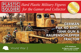 German Pak 40 Anti-Tank Gun And Raupenschlepper Tractor  1/72nd Scale