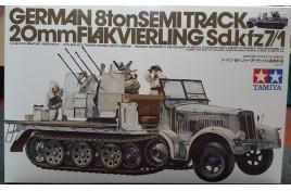 German 8ton Semitrack 20mm Flakvierling Sd.Kfz. 7/1 1/35