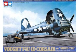 Vought F4U-1D Corsair with Moto Tug 1/48