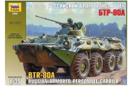 Zvezda 1/35 Russian personal armored carrier BTR-80A