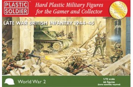 Late War British Infantry 1944-45 x 66 1/72nd Scale