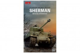 Rye Field Model (RFM) 1/35 M4A3 76W HVSS Sherman Full Interior & Workable Track Links