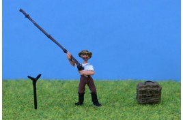 Fisherman with Rod & Tackle Box OO Scale