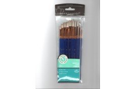 White Bristle Brush Set  for Acrylic and Oil
