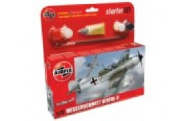 Messerschmitt BF109E-3 Starter Set 1:72 Scale Plastic Kit