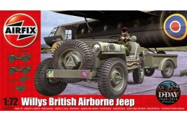 Willys Jeep Trailer & 75mm Howiter 1:72 Scale Plastic Kit