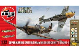 Dogfight Doubles Gift Set Spitfire and Messerschmitt 1:72 Scale Plastic Kit