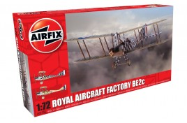 Royal Aircraft Factory BE2c Plastic Kit 1:72 Scale
