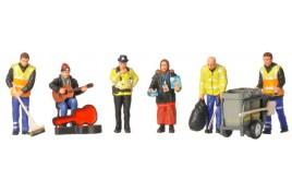 OO Scale Modern Street Scene Figures
