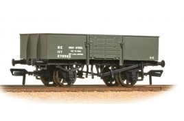 13 Ton High Sided Steel Wagon with Wooden Door LNER Grey OO Gauge