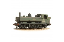 Class 64xx 6419 0-6-0 Pannier Tank BR Lined Green Late Crest – Weathered OO Gauge