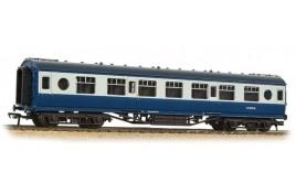LMS 57ft 'Porthole' Second Corridor BR Blue & Grey OO Gauge
