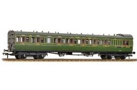 SE&CR 60' Birdcage Brake 3rd Lavatory Southern Railway Olive Green OO Gauge