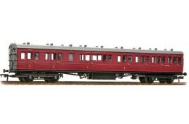 SE&CR 60' Birdcage Composite Lavatory BR Crimson OO Scale