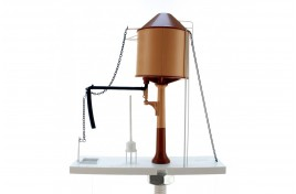 Water Tower Light and Dark Stone Conical Top Motorised with sound OO Gauge