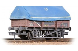 UCA China Clay Wagon BR Bauxite With hood (Weathered) OO Gauge