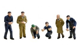 Factory Workers & Foreman OO Scale