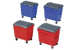 Commercial Lidded Skips x 4 OO Scale