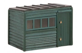 Pent Roof Garden Shed OO Scale