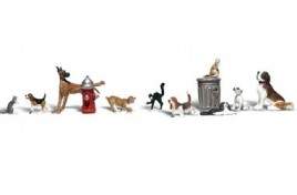 Dogs and Cats HO Scale