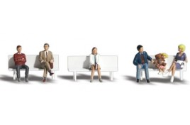 Bus Stop People HO Scale