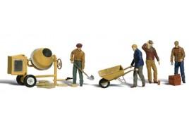 Masonry Workers HO Scale