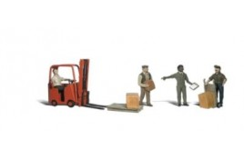 Workers With Forklift N Gauge