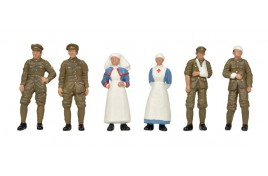 WW1 Nurses x 2 & Soldiers x 4 OO Scale