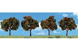 "2""-3"" Classic Apple Trees (4/Pk) OO Scale"