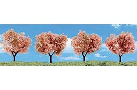 "2""-3"" Classic Flowering Trees (4/Pk) OO Scale"