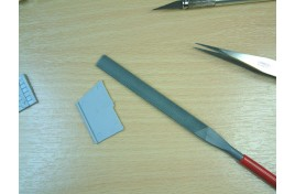 Modellers Flat File 180 x 5mm Red Handle