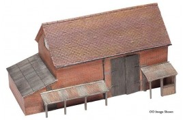 Red Brick Hay Barn N Scale