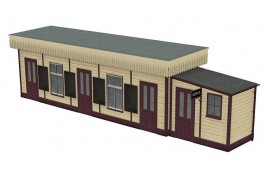 Wooden Station Booking Office OO Scale