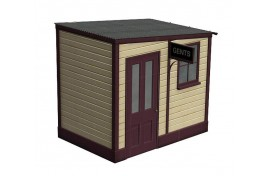 Wooden Station Gents Toilet OO Scale