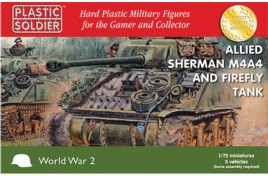 Allied Sherman M4A4 Firefly Tank x 3 1/72nd Scale
