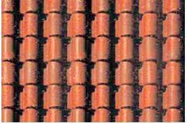 Spanish Tile Plastic Pattern Sheet N Gauge