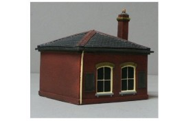 Station Waiting Room Red Brick OO Scale