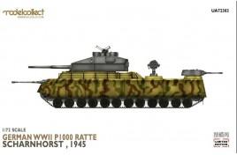 Modelcollect 1/72 German WWII P.1000 ratte scharnhorst 1945