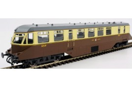 AEC Railcar GWR  Chocolate /Cream Dark Roof OO Gauge