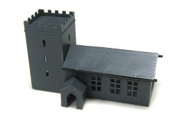 Church with Porch Plastic Kit