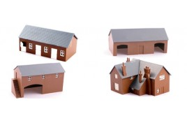 Farm Set - Includes Stable Block, Barn, Cow Shed & Farm House Plastic Kits