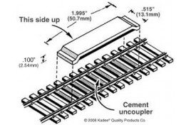 Magne-Matic Between the Rails Code 83 Delayed Uncoupler 1 Pair OO/HO Scale