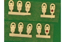 GWR Head & Tail Lamps White x 10 OO Scale