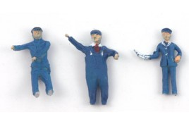 Loco Crew - Driver, Fireman & Fire Dropper Painted OO Scale