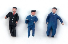 Locomotive Crew - Driver, Fireman & Fitter - Painted OO Scale