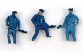 Loco Crew - Firemen x 3 Painted OO Scale