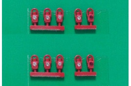 GWR Head & Tail Lamps Red x 10 OO Scale