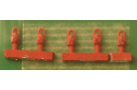 GWR Tail Lamps Red x 5 N Scale