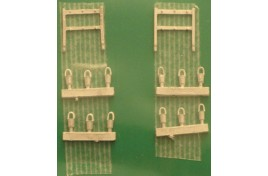 Fire Buckets & Stands White Metal Kit N Scale