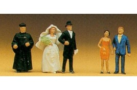 Protestant Wedding Group 5 Figure Set OO/HO Scale